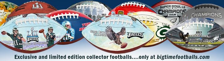 Exclusive and limited edition collector footballs