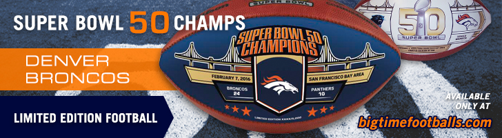 Denver Broncos Super Bowl 50 Champs Special Edition Ball