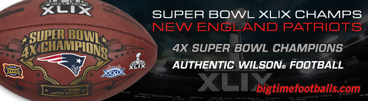 New England Super Bowl XLVIII Champs Commemorative Game Ball