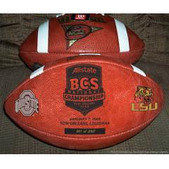 LSU v. OSU - BCS Championship Commemorative Game Ball