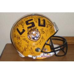 Autographed LSU Football Helmet