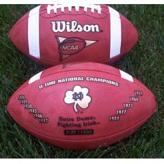 Official Notre Dame Football Game Ball