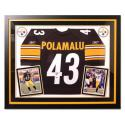 Autographed & Framed Authentic Troy Polamalu Jersey