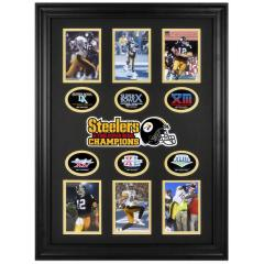Steelers Six-Time Super Bowl Champs Framed Collectible