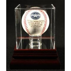 Derek Jeter All-Time Yankees Hits Leader Laser Engraved Baseball & Case