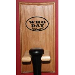 "Designed with the Who Dat Nation in mind - perfect for displaying your ""Bring the Wood"" Bat."