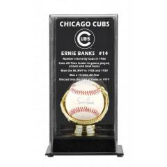 Ernie Banks Autographed Chicago Cubs Baseball