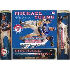 Rangers' Michael Young - Franchise Hits Leader - Vivid, Wraparound Artwork