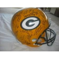 Authentic Team Autographed Packers Helmet