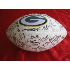 Autographed Green Bay Packers Logo Football
