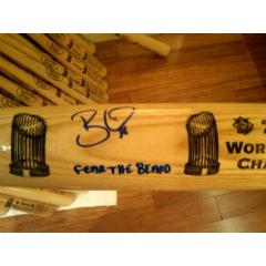 "Brian Wilson ""Fear the Beard"" Autographed Louisville Slugger"
