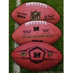 three-sided view of NFC Championship Game football