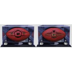 Championship Game Ball (left) and NFC Champions Ball (right) - Display Cases Included