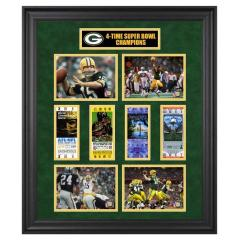 Green Bay Packers 4 Time Super Bowl Champs Framed Collage