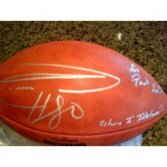 Authentic Donald Driver Autographed Football