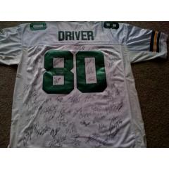 Authentic Packers Team Signed Donald Driver Jersey