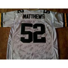 Authentic Packers Team Signed Clay Matthews Jersey