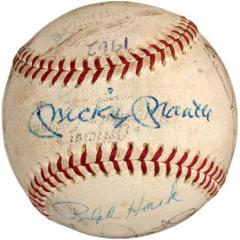 signature by Mickey Mantle - authenticated