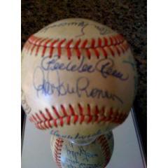 Brooklyn Dodgers Stars Autographed Baseball