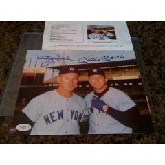 Mickey Mantle & Whitey Ford Autographed 8x10 Photo