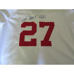 "Jim ""Catfish"" Hunter Signed Jersey - Old Timers Game Issued"