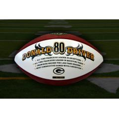 Donald Driver - Packers Receiving Yards Leader Commemorative Football