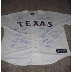 Texas Rangers 2011 Team Signed Jerseys