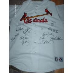 St. Louis Cardinals Legends Signed Jersey