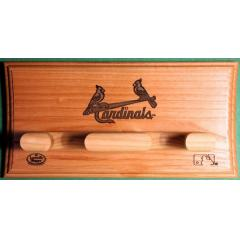 St. Louis Cardinals Custom Two Bat Wall Display Rack