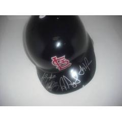 Berkman, Pujols, Holiday, La Russa signed Cardinals Batting Helmet