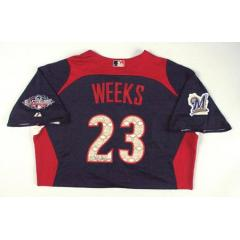 Rickie Weeks Autographed 2011 All Star Game Workout Jersey