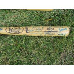 Braves' Legends Autographed Louisville Slugger