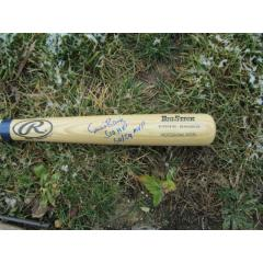 Ernie Banks Double Inscribed & Signed Bat