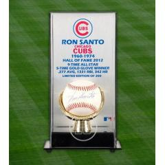 Ron Santo Signed Ball & Case - Hall of Fame 2012