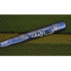 "Pierre Thomas Autographed ""Bring the Wood"" Bat"