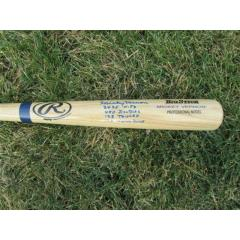 Mickey Vernon Signed & Inscribed Pro Model Bat