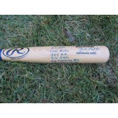 Andy Pafko Autographed & Incribed Bat