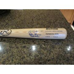St. Louis Browns Autographed Bat - 3 Signatures