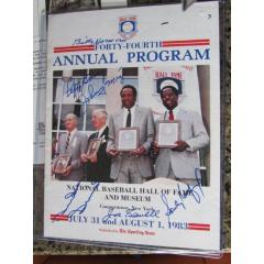 Autographed 1983 Hall of Fame Induction Ceremony Program
