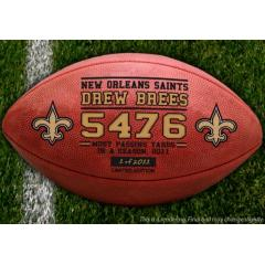 Official Drew Brees Passing Record Game Ball