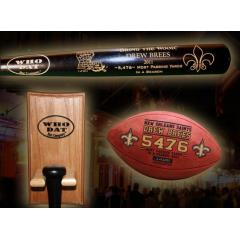 Drew Brees Season Passing Record Deluxe Set with FREE Bat Rack