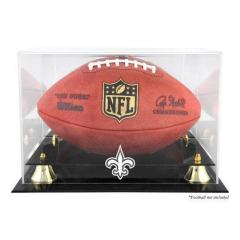 New Orleans Saints Logo Etched Football Display Case