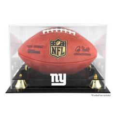 NY Giants Custom Logo Football Display Case