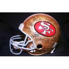 49ers Authentic Team Signed Helmet