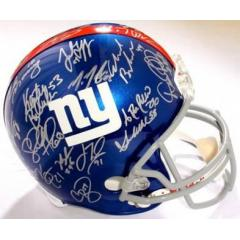 NY Giants Authentic Team Signed Helmet