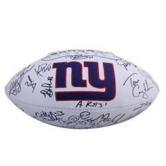 NY Giants Authentic Team Signed Logo Ball