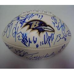Ravens Authentic Team Signed Ball
