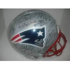 Patriots Authentic Team Signed Helmet