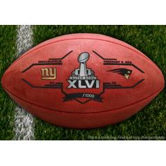 Official Super Bowl XLVI Giants V. Patriots Wilson Game Ball