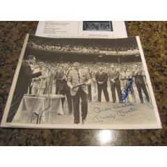 Vintage Wire Photo from Joe DiMaggio Day - Autographed